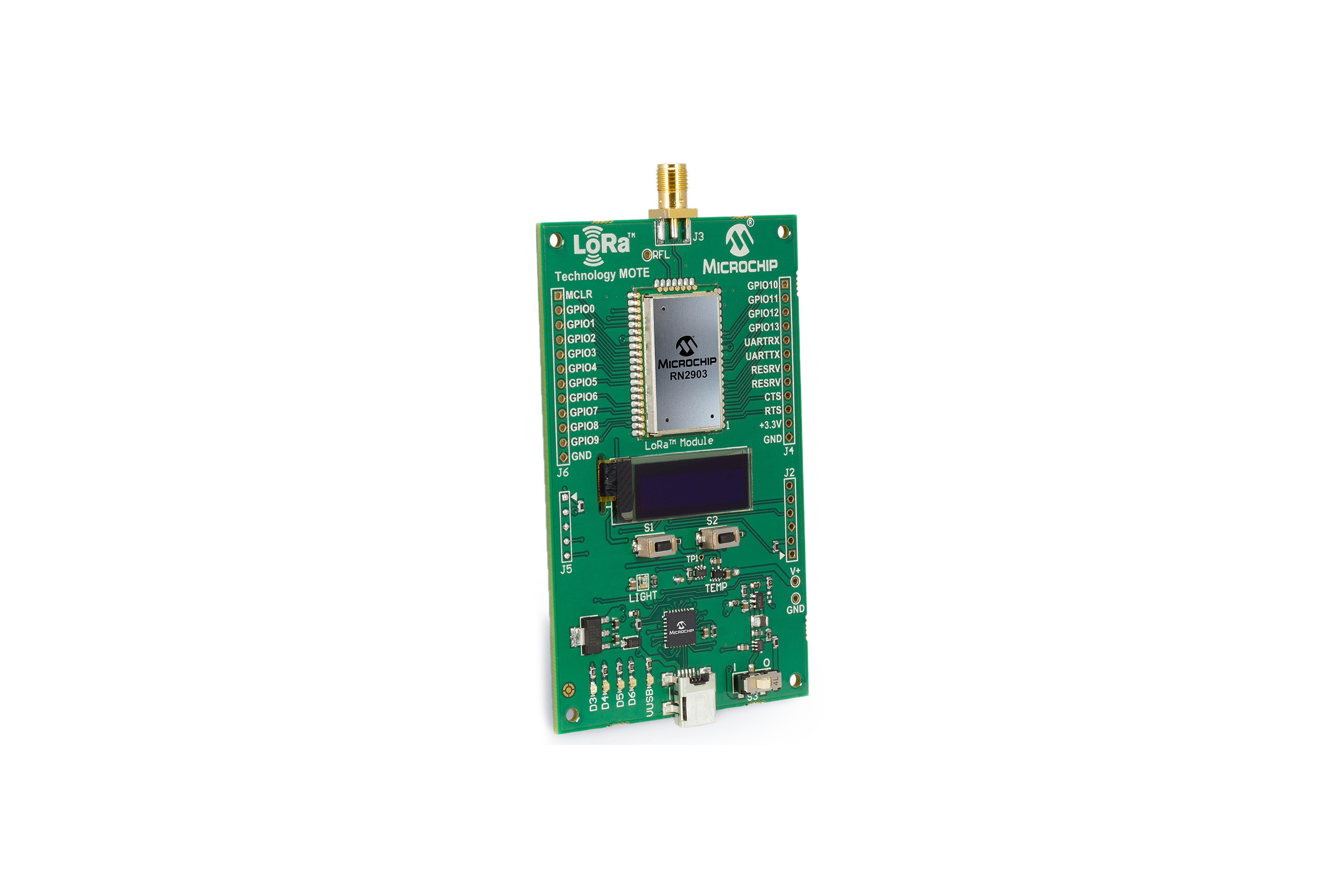 RN2903 915 MHz LoRa Mote-ontwikkelingsnode