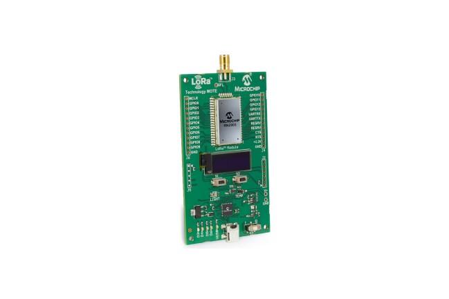 A product image for RN2903 915 MHz LoRa Mote-ontwikkelingsnode