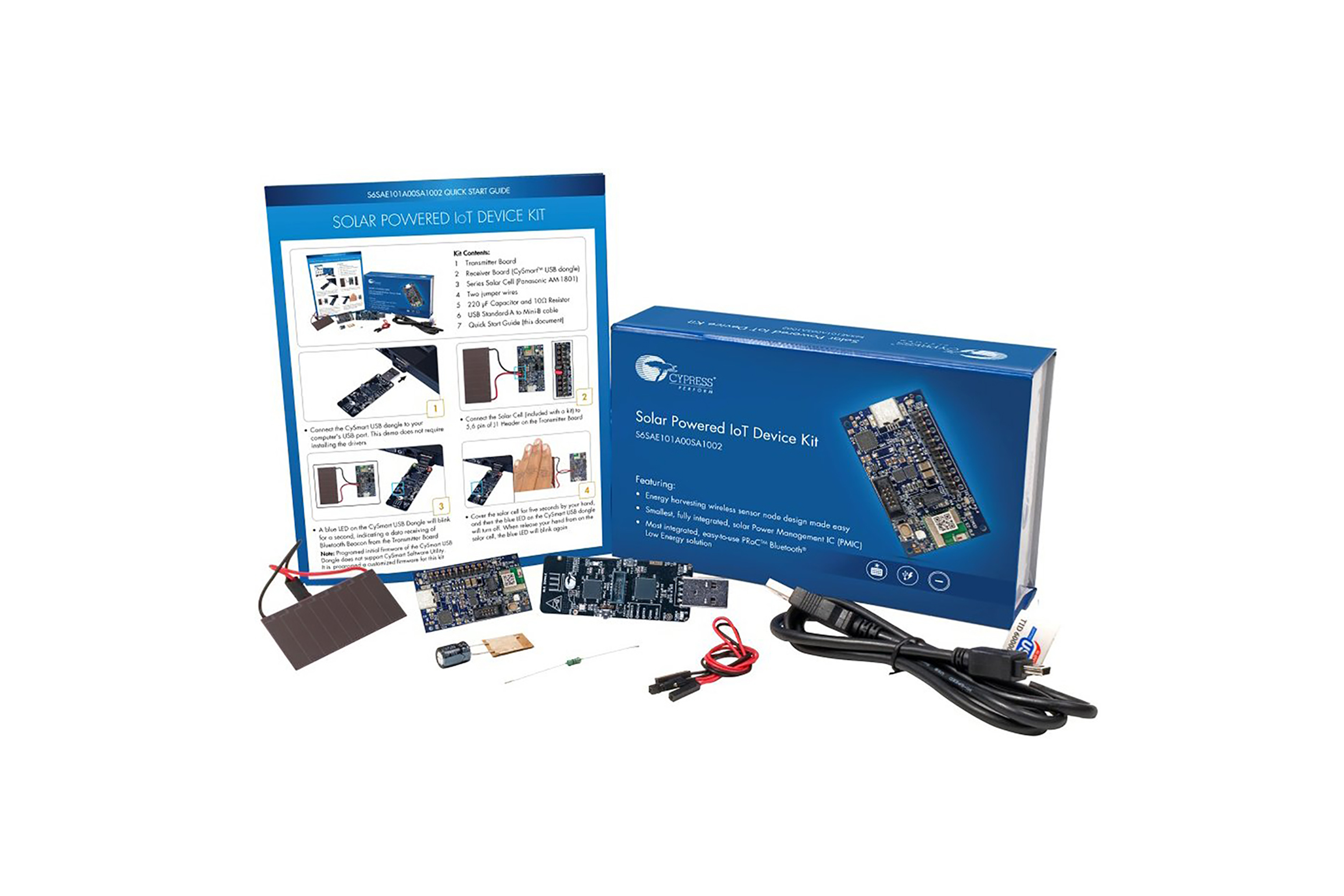 BLE IoT Device-kit op zonne-energie