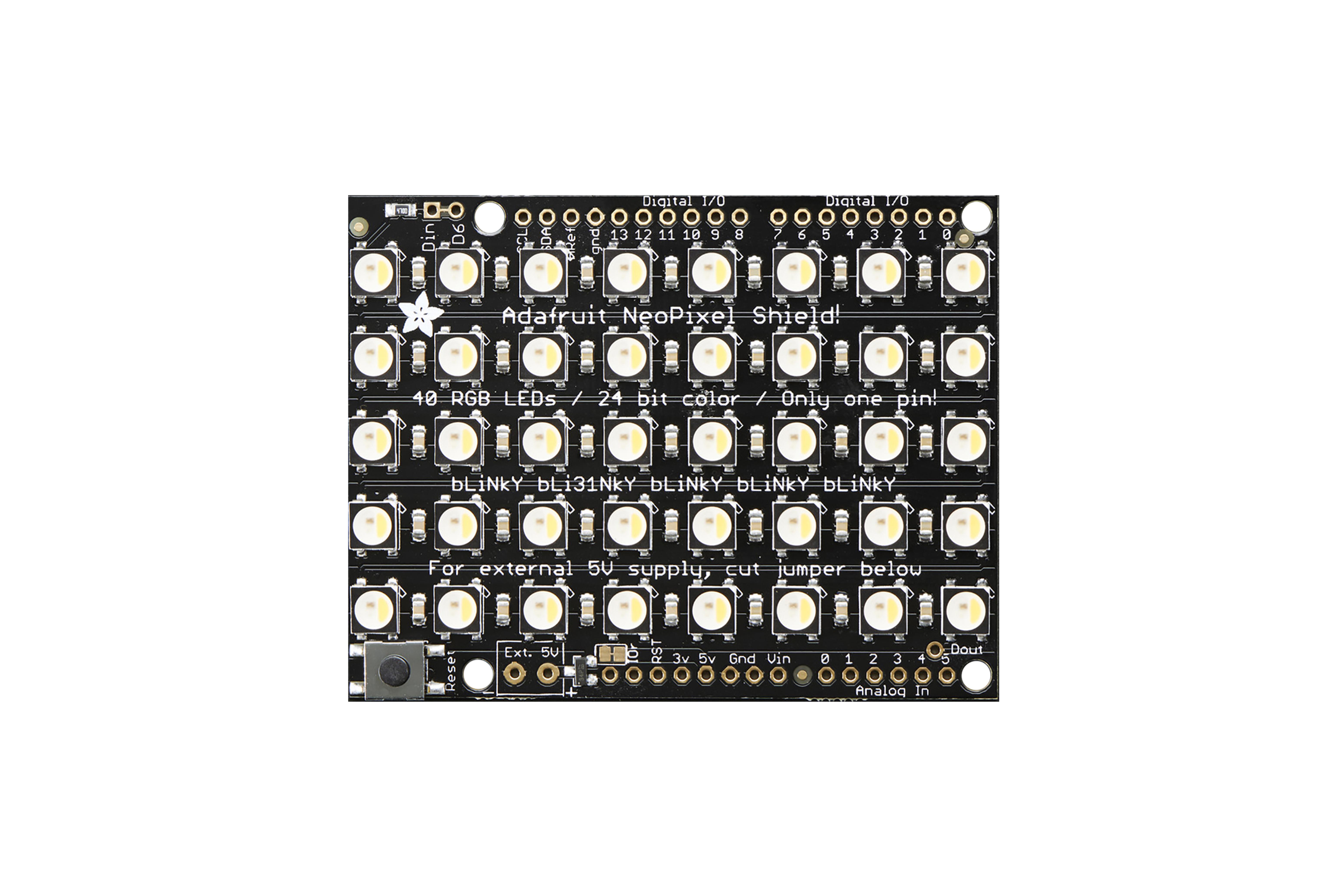 NEOPIXEL SHIELD 40 RGBW LED SHIELD 3000 K