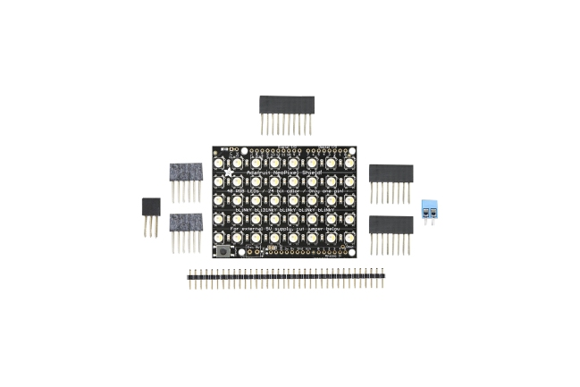 A product image for NEOPIXEL SHIELD 40 RGBW LED SHIELD 3000 K