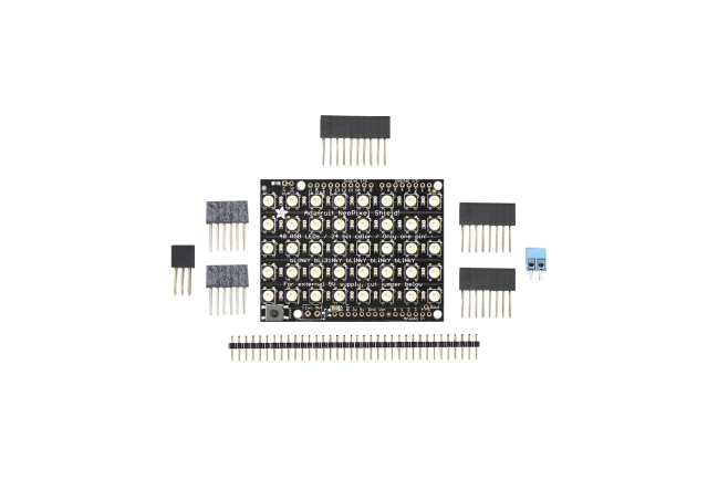 A product image for NEOPIXEL SHIELD 40 RGBW LED SHIELD 4500 K