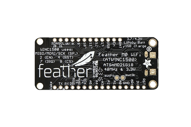 A product image for Adafruit Feather M0 wifi-ontwikkelingskaart