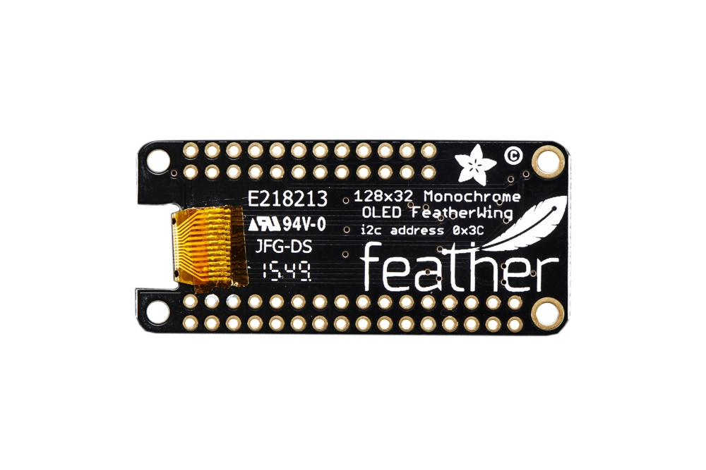 FeatherWing 128x32 OLEDadd-onkaart