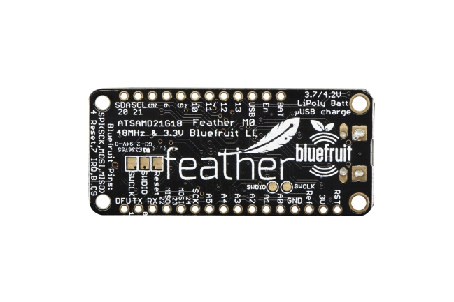 A product image for Adafruit Feather M0 Bluefruit LE-bord