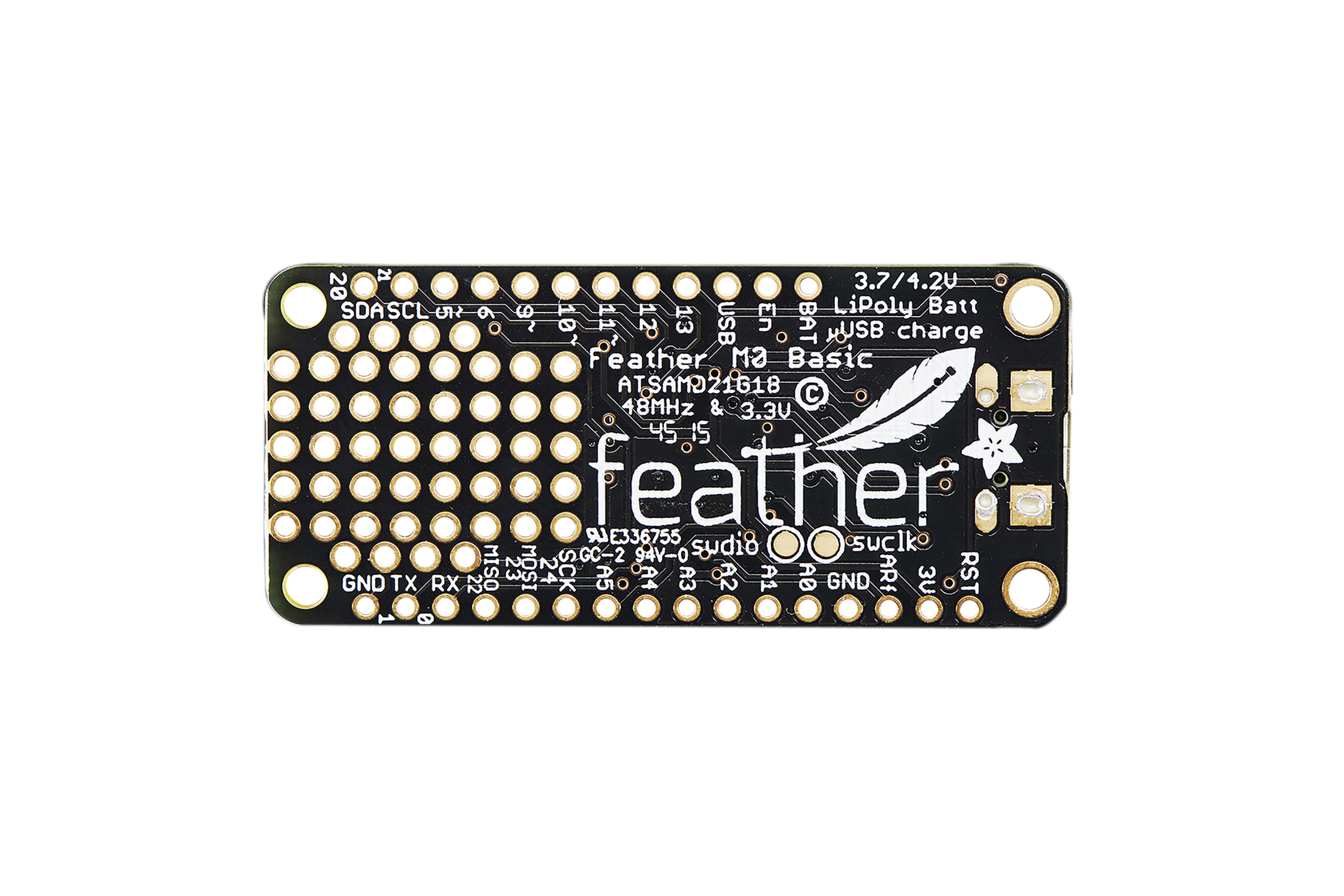 Adafruit Feather Cortex-M0 Proto-kaart