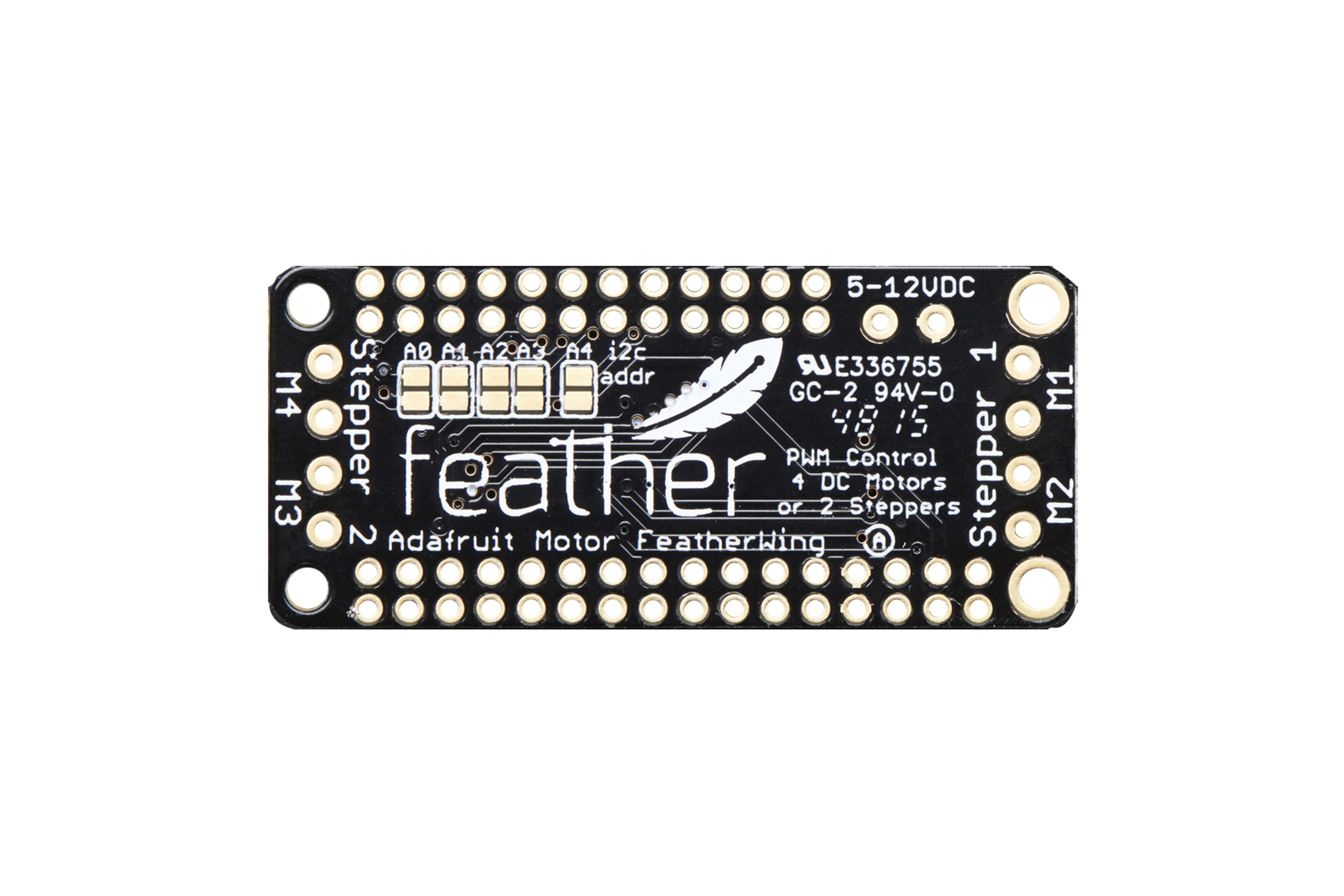 FeatherWing DC/stappenmotor add-onkaart