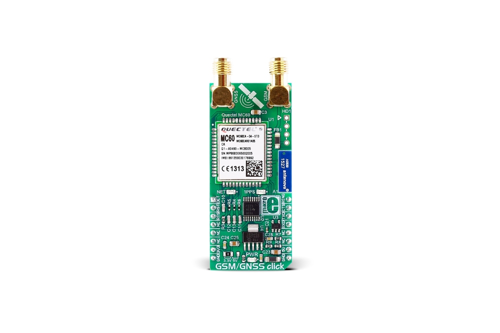 MIKROE GSM/GNSS CLICK BOARD, MIKROE-2439
