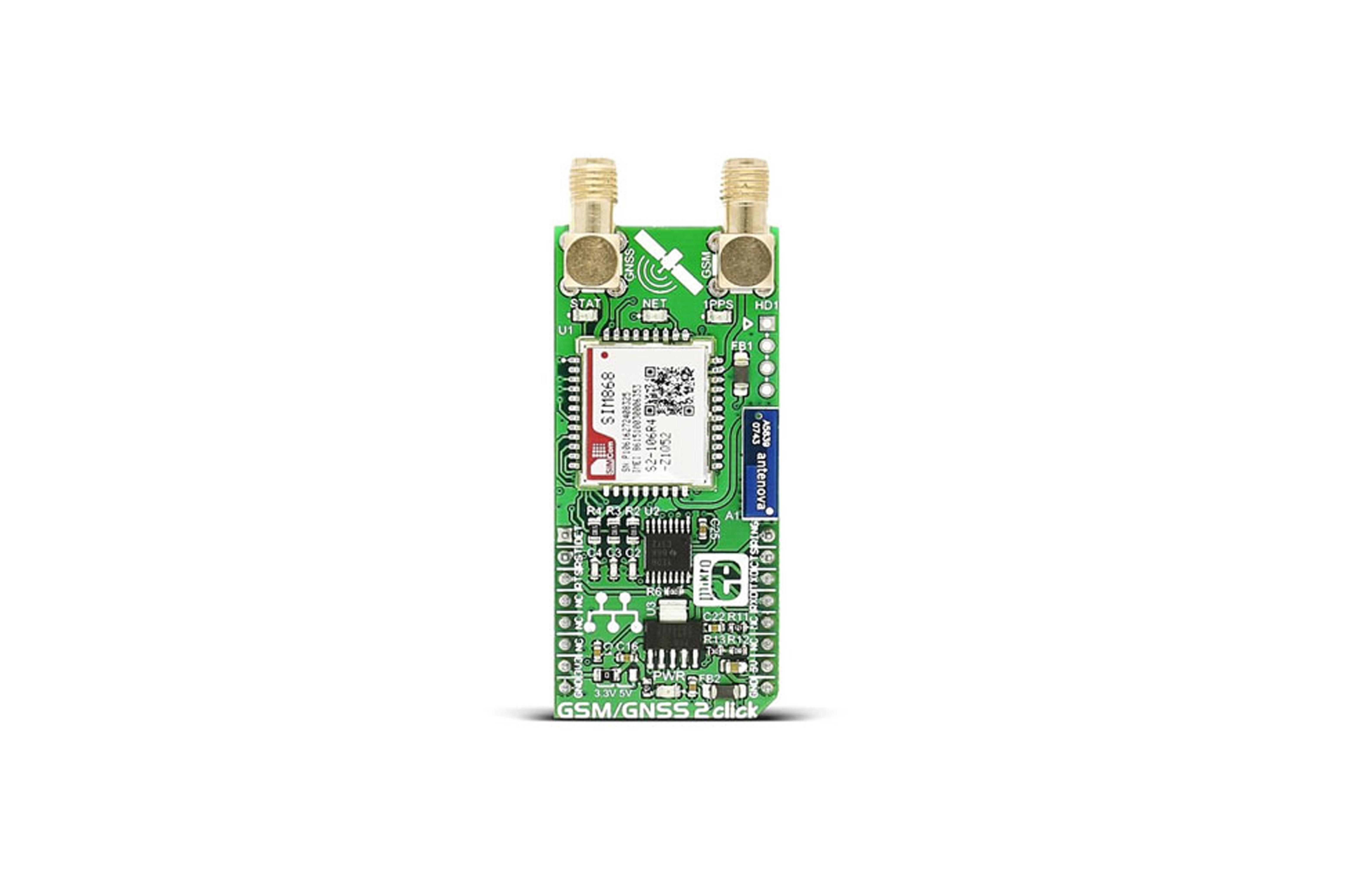 GSM/GNSS 2 CLICK BOARD, MIKROE-2440