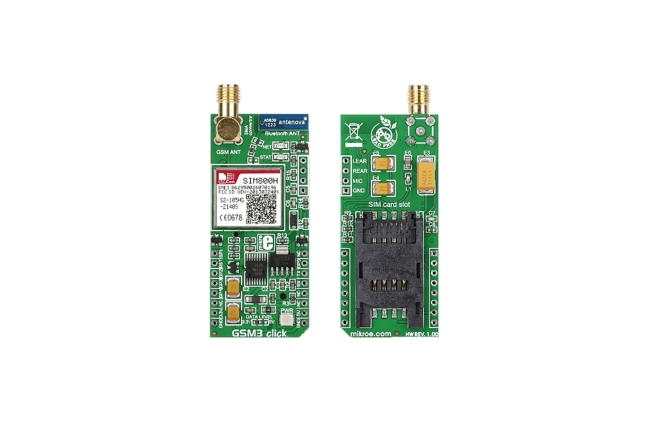 A product image for MIKROELEKTRONIKA GSM3 CLICK, MIKROE-1720