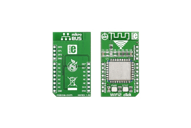 A product image for MikroElektronika wifi2 mikroBus Click Board voor HLK-M30