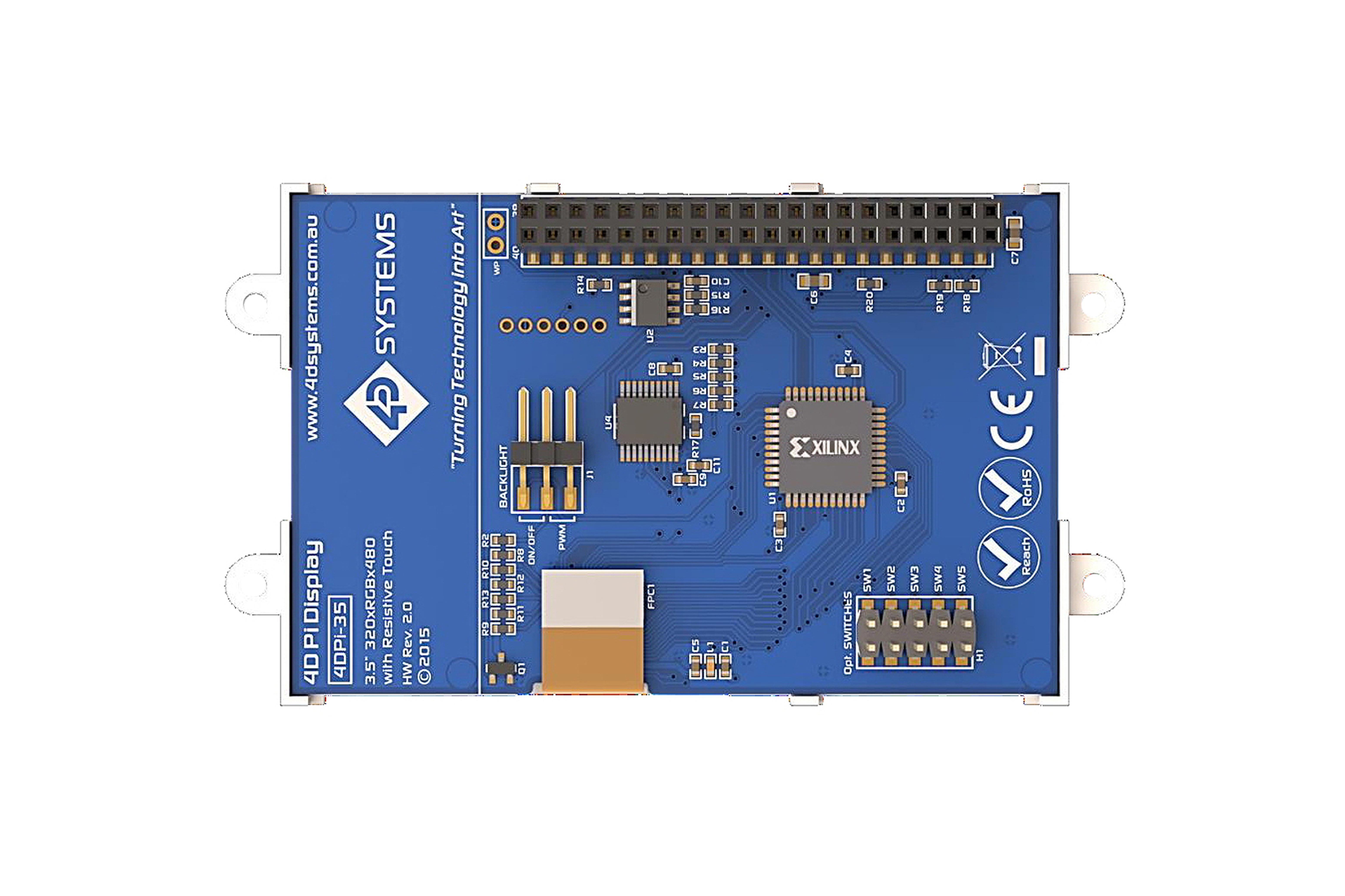 4DPI-35 MK2 lcd-touchscreenRaspberry Pi