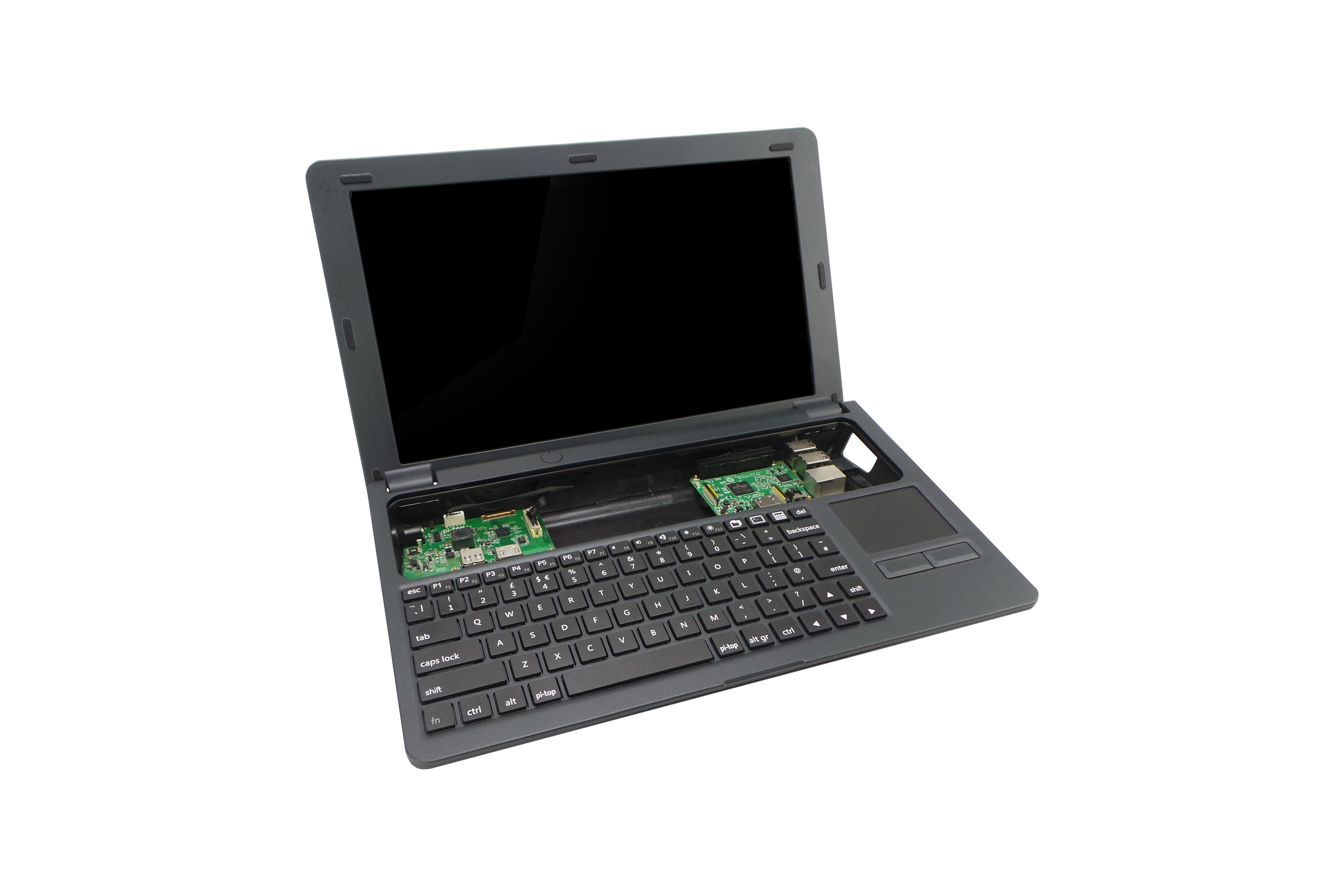 Pi-Top Amerikaans toetsenbord en Amerikaanse voeding - grijs