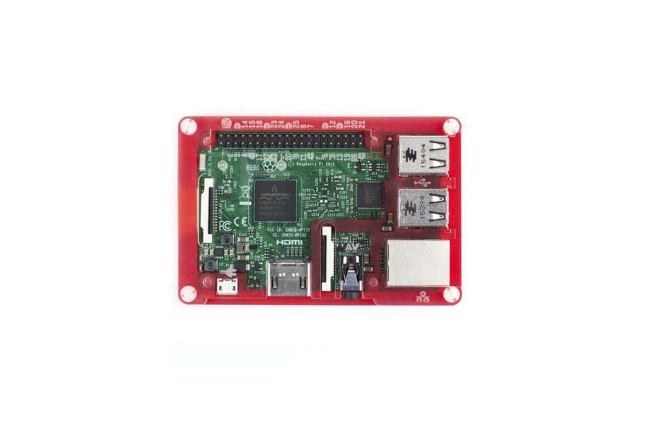 A product image for PIBOW COUPE RASPBERRY PI-BEHUIZING, ROOD