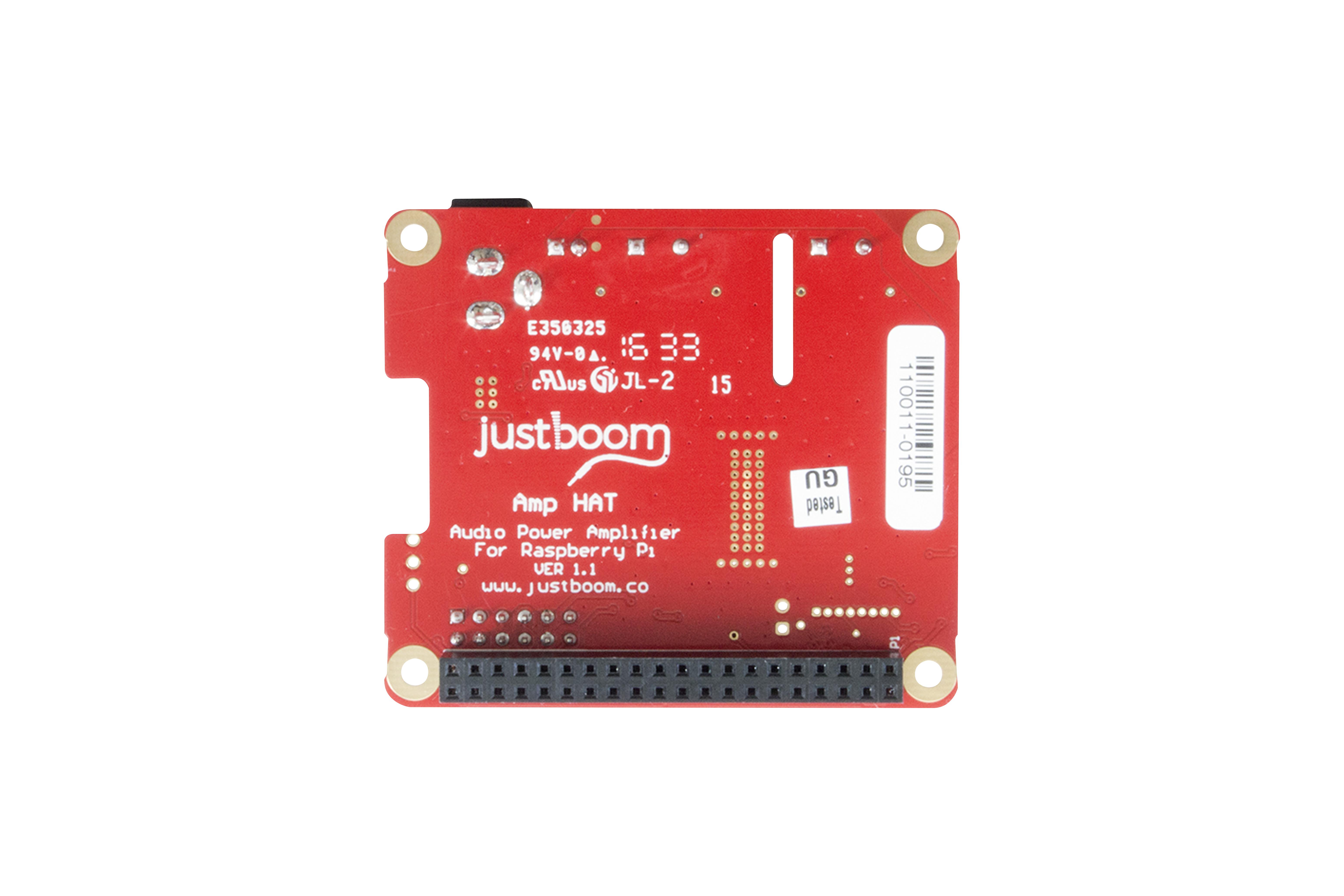 JustBoom Amp HAT voor Raspberry Pi