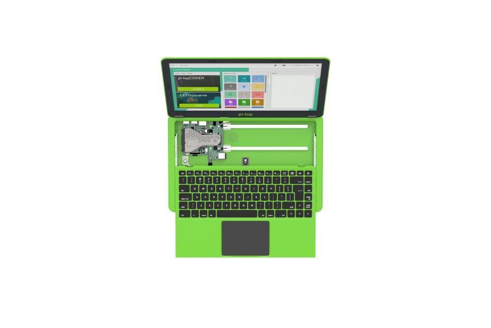 Pi-Top VK-toetsenbord en voeding - groen