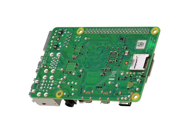 A product image for Raspberry Pi 4 Model B-plaat met 4GB LPDDR4 SDRAM