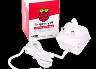 Officiële witte Raspberry Pi 5,1V/3A-voeding USB-C voor VK