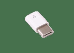Officiële witte Raspberry Pi micro-USB-B-naar-USB-C-adapter