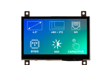 Riverdi Ritft-43-Cap-Fr, 4.3 Inches Tft Display