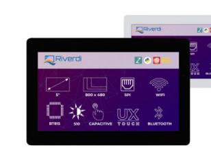 Riverdi - RiTFT-50-IOT-UX, van hoge kwaliteit 5 inch-scherm - RVT50UQENWC01