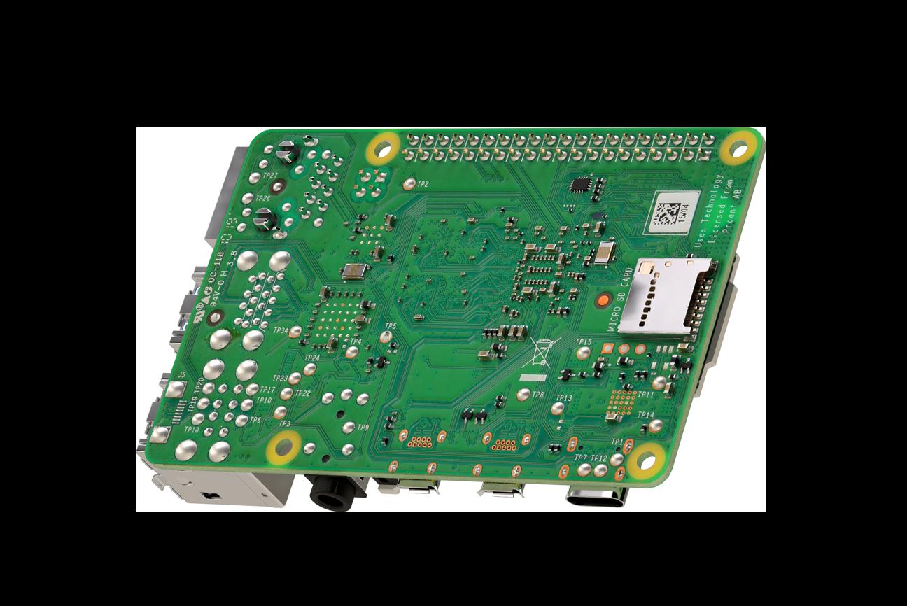 Raspberry Pi 4 Model B-plaat met 2GB LPDDR4 SDRAM