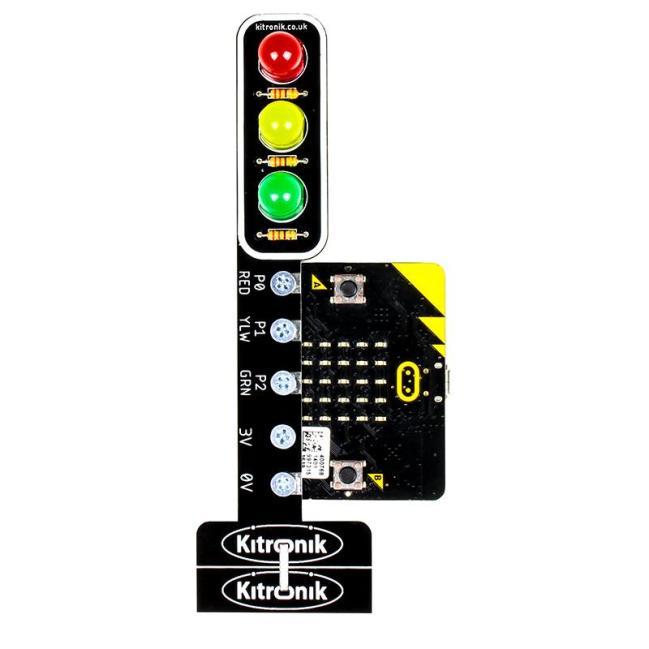 A product image for Kitronik STOP:bit – Traffic Light for BBC micro:bit