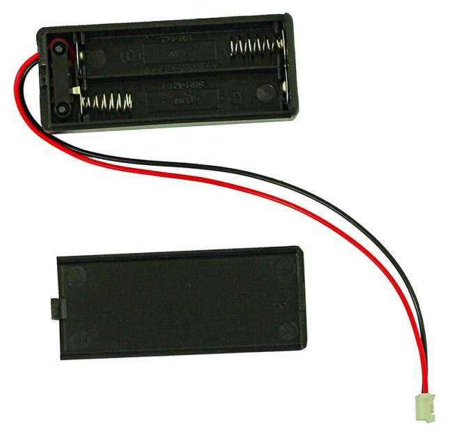 A product image for 2x AAA Battery Box with Switch and JST Connector