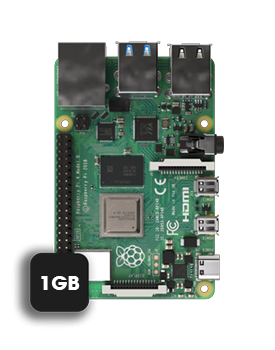 Raspberry 1GB model