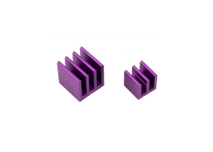 RASPBERRY PI HEAT SINK KIT - PURPLE