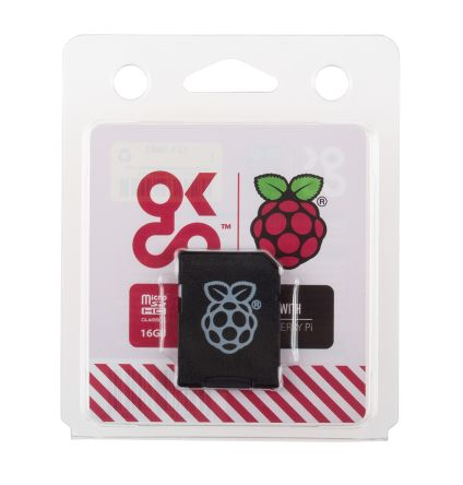 A product image for Raspberry Pi NOOBS preloaded microSD card 16GB