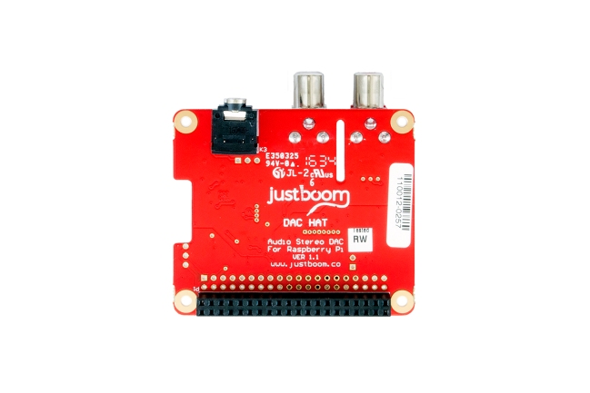 A product image for JUSTBOOM DAC HAT FOR RASPBERRY PI
