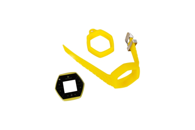 A product image for Hexiwear IoT Dev Kit Accessory Pack – Yellow