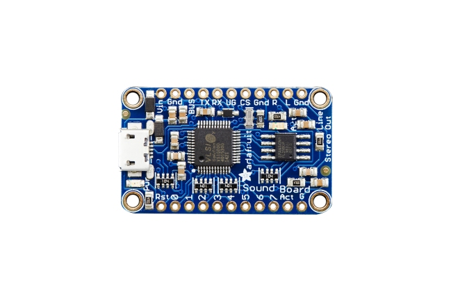 A product image for Adafruit Audio FX Mini Sound Board – WAV/OGG Trigger – 2MB Flash