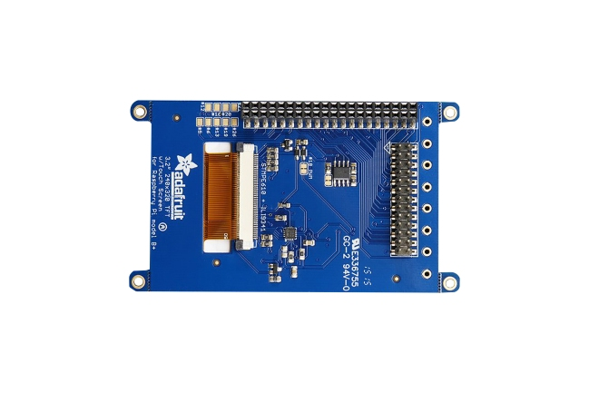 A product image for Adafruit PiTFT Plus 320×240 3.2″ TFT + Resistive Touchscreen