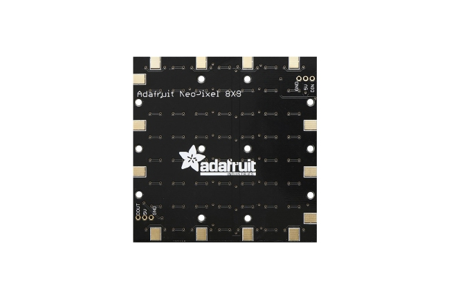 A product image for Adafruit NeoPixel NeoMatrix – 64 RGBW – Cool White – ~6000K
