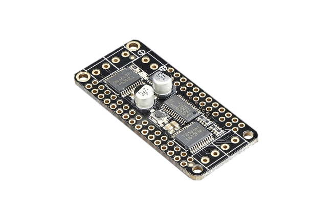A product image for Adafruit DC MOTOR + STEPPER FEATHERWING ADD-ON FOR ALL FEATHER BOARDS