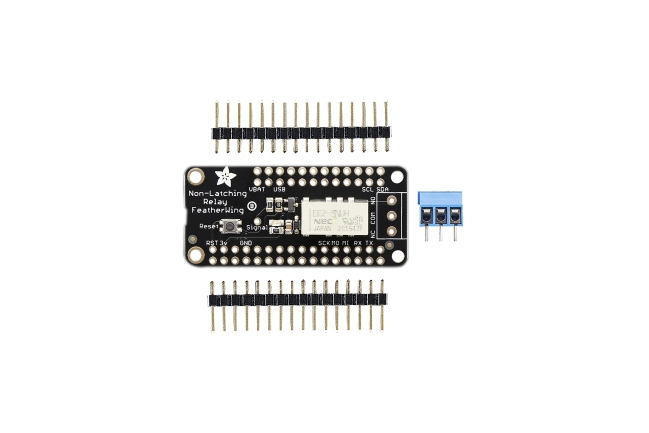 A product image for Adafruit Non-Latching Mini Relay FeatherWing