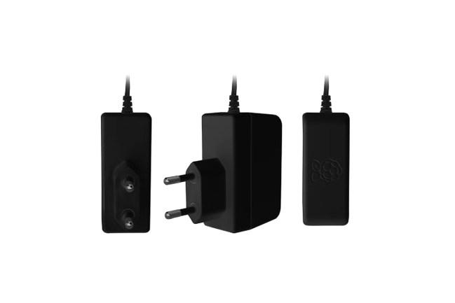 A product image for Official Raspberry Pi 3 Eu Power Supply Black