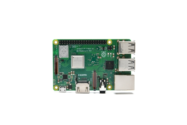 A product image for Raspberry Pi 3 Model B+
