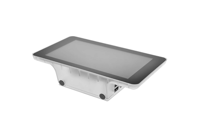A product image for Raspberry Pi Official 7″ Touchscreen Case – Clear