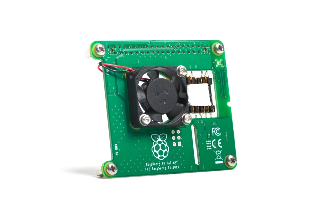 A product image for Raspberry Pi Poe HAT
