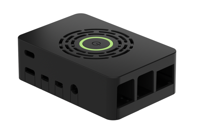 A product image for Okdo Raspberry Pi 4 Case With Power Button – Black