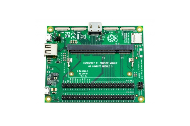 A product image for Raspberry Pi Compute Module I/O Board v3