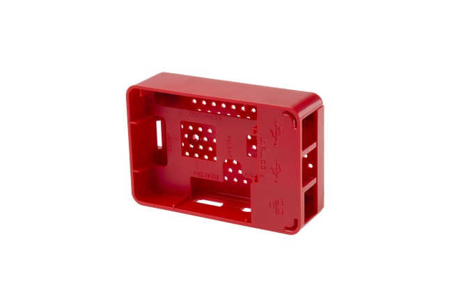 A product image for RASPBERRY PI 3 case – Red