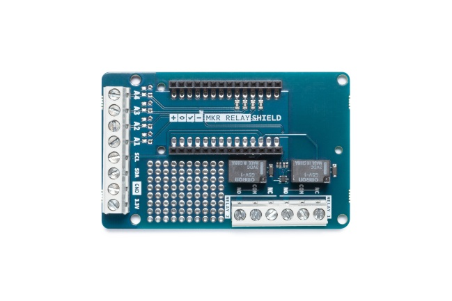 A product image for Arduino Mkr Relay Proto Shield