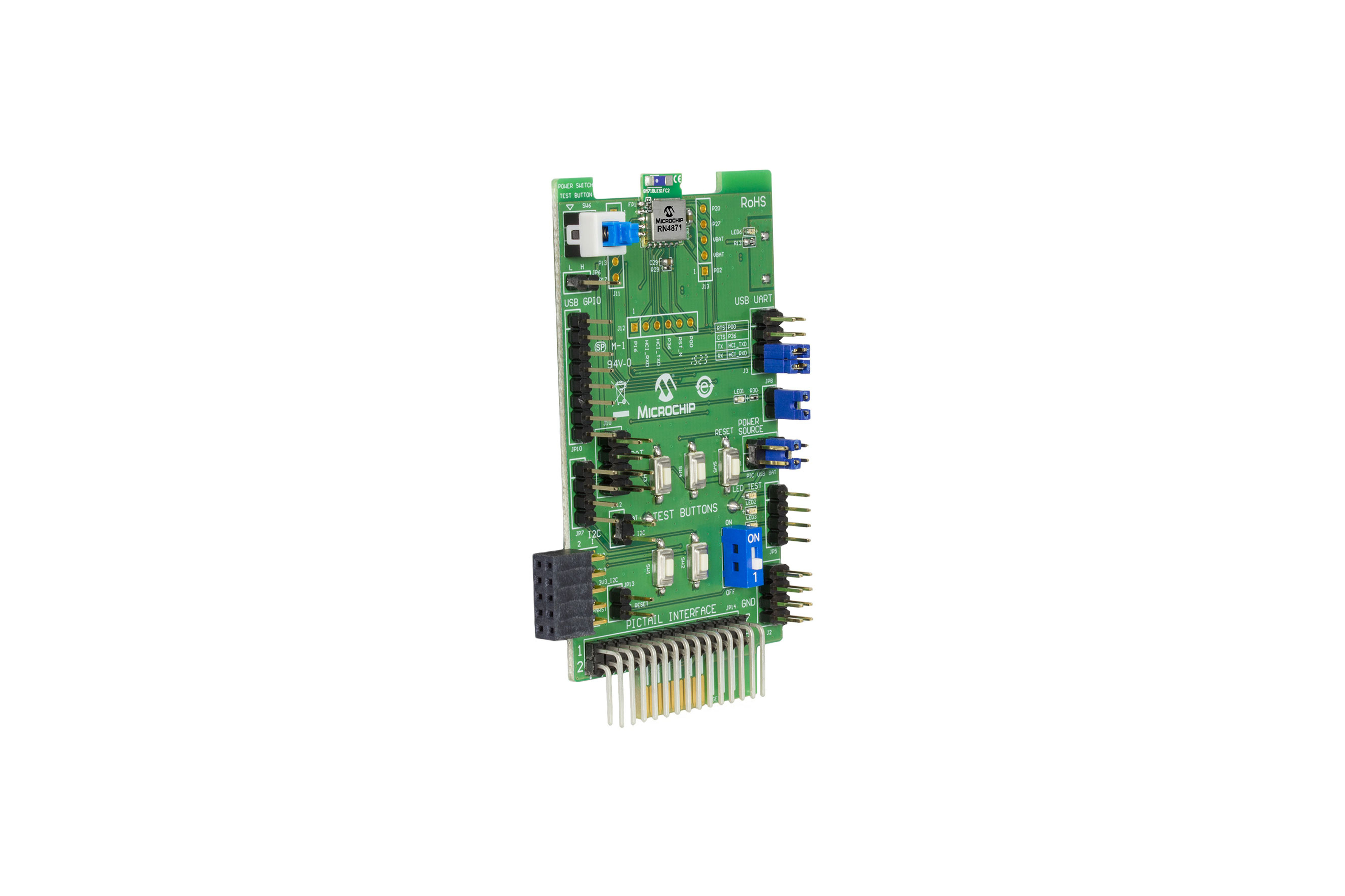 RN4871 Bluetooth 4.2 PICtail Plus Board