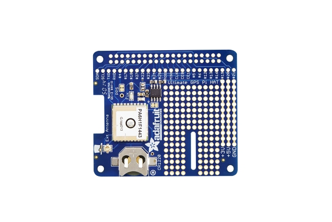 A product image for Adafruit Ultimate GPS HAT for Raspberry Pi