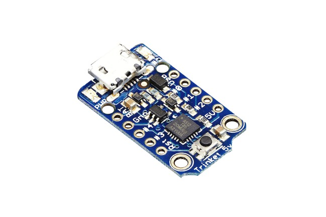 A product image for Adafruit Trinket – Mini Microcontroller – 5V  – 1501