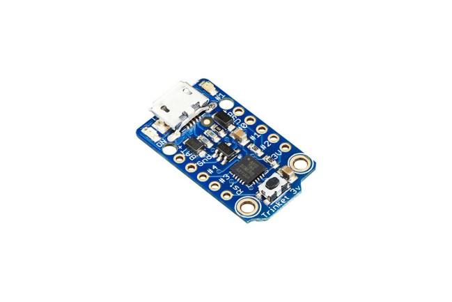 A product image for Adafruit Trinket – Mini Microcontroller – 3.3V Logic – MicroUSB